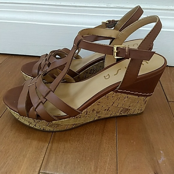 4229ccbc010 Unisa cork wedge sandals. M 5a6e0f793a112e53b421844e